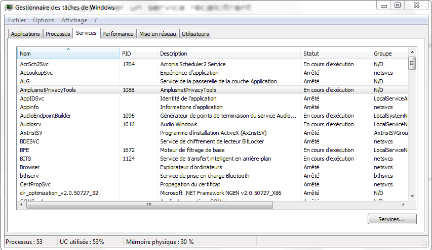 Windows supprimer un service r calcitrant for Fenetre windows 7 outils