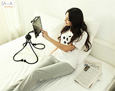 iget support flexible pour ipad et ipad 2. Black Bedroom Furniture Sets. Home Design Ideas