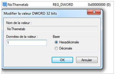 Windows 7 regedit key DWORD