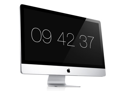Minimalist clock screensaver pour mac for Photo ecran sur mac