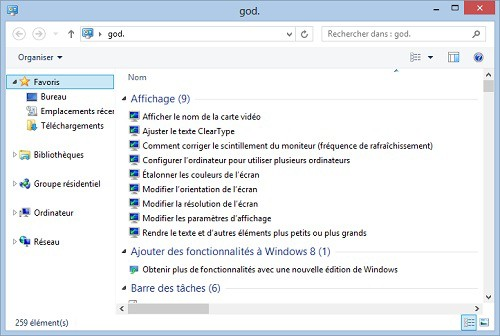 mode God de Windows 8