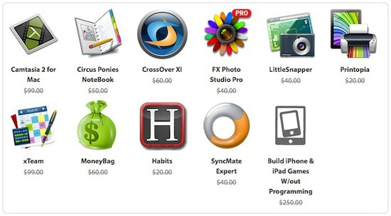 The iStack Mac Bundle 2.0 softwares