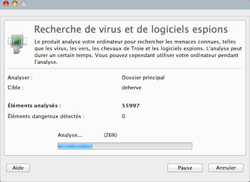 F-Secure pour Mac analyse