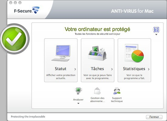 F-Secure pour Mac interface