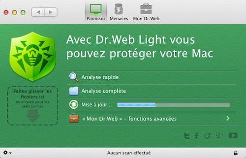 DrWeb Light antivirus pour Mac
