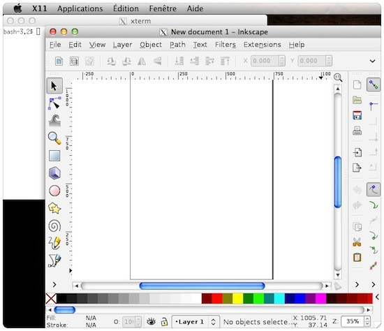 inkscape X11